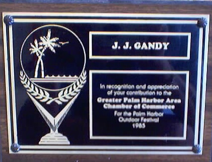 Recoginition of contributions to the Palm Harbor Area Chamber of Commerce 1985 Outdoor Festival