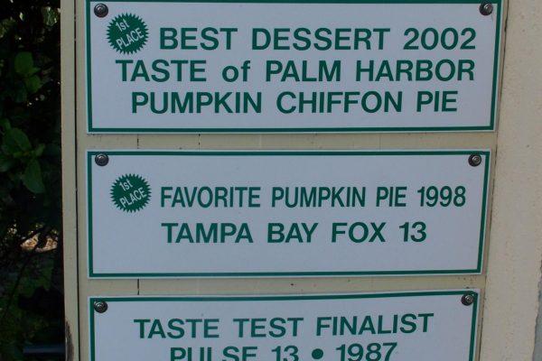 Award signs displayed at front door.